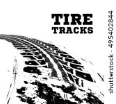 tire tracks. vector... | Shutterstock .eps vector #495402844