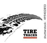 tire tracks. vector... | Shutterstock .eps vector #495402853