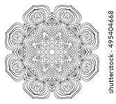 mandala. black and white... | Shutterstock .eps vector #495404668