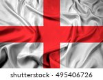 waving flag of milan  italy | Shutterstock . vector #495406726