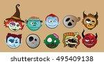 halloween character monster... | Shutterstock .eps vector #495409138