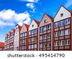 colorful houses in gdansk ... | Shutterstock . vector #495414790