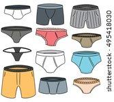vector set of underwear | Shutterstock .eps vector #495418030