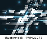 abstract background  technology ... | Shutterstock .eps vector #495421276