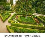 gardens of the generalife in... | Shutterstock . vector #495425038