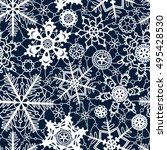 White Lace Crochet Snowflakes...