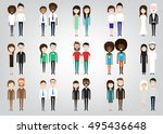 different pairs of two people... | Shutterstock .eps vector #495436648