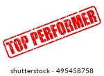 top performer red stamp text on ... | Shutterstock .eps vector #495458758