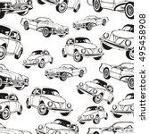 vintage car seamless pattern ... | Shutterstock .eps vector #495458908