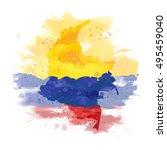 vector map of colombia... | Shutterstock .eps vector #495459040