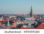 roof view of copenhagen  denmark | Shutterstock . vector #495459184