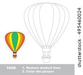 restore dashed line and color... | Shutterstock .eps vector #495460024