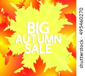 big autumn sale  abstract... | Shutterstock .eps vector #495460270