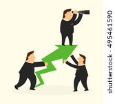 business man in business... | Shutterstock .eps vector #495461590