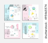 artistic vector greeting cards... | Shutterstock .eps vector #495465574
