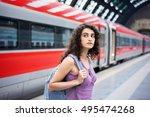 Travel Concept. Young Woman...