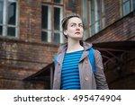 woman portrait. emotional... | Shutterstock . vector #495474904
