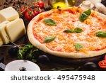 Italian Pizza Margarita On Woo...