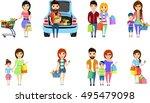 set of vector illustrations.... | Shutterstock .eps vector #495479098