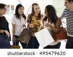 group of people shopping concept | Shutterstock . vector #495479620
