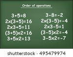 order of operations on green... | Shutterstock .eps vector #495479974