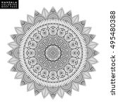 flower mandala. vintage... | Shutterstock .eps vector #495480388
