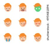 set of emoji  stickers. male... | Shutterstock .eps vector #495481894