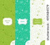 vector set of patterns and... | Shutterstock .eps vector #495484579