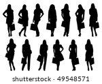 sale women silhouette isolated...   Shutterstock . vector #49548571