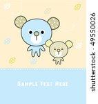 sweetie teddy love family | Shutterstock .eps vector #49550026