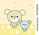 sweetie teddy love family | Shutterstock .eps vector #49550056