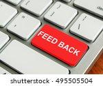 concept of modern keyboard.... | Shutterstock . vector #495505504