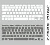 computer keyboards | Shutterstock .eps vector #495510694