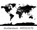 world detailed map with... | Shutterstock .eps vector #495515170
