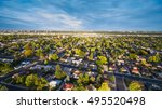 aerial view of residential... | Shutterstock . vector #495520498