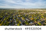 aerial view of residential... | Shutterstock . vector #495520504