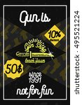 color vintage guns shop poster | Shutterstock .eps vector #495521224