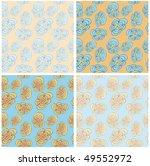 funky flowers seamless pattern | Shutterstock .eps vector #49552972
