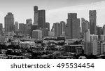 black and white  bangkok city... | Shutterstock . vector #495534454