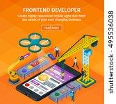 developing mobile applications... | Shutterstock .eps vector #495536038