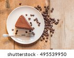 Coffee Cake With Coffee Beans...