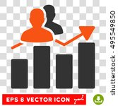 vector audience graph eps... | Shutterstock .eps vector #495549850
