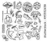 set of italy icons vector... | Shutterstock .eps vector #495552658