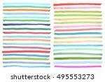 color highlight stripes ... | Shutterstock .eps vector #495553273