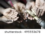 african black children with... | Shutterstock . vector #495553678
