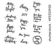 winter lettering big set | Shutterstock .eps vector #495553930