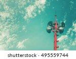 horn speaker for public... | Shutterstock . vector #495559744