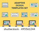 adaptive web phone template and ...   Shutterstock .eps vector #495561244