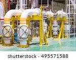 manual operate ball valve at... | Shutterstock . vector #495571588