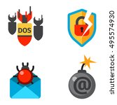 internet security safety icons | Shutterstock .eps vector #495574930